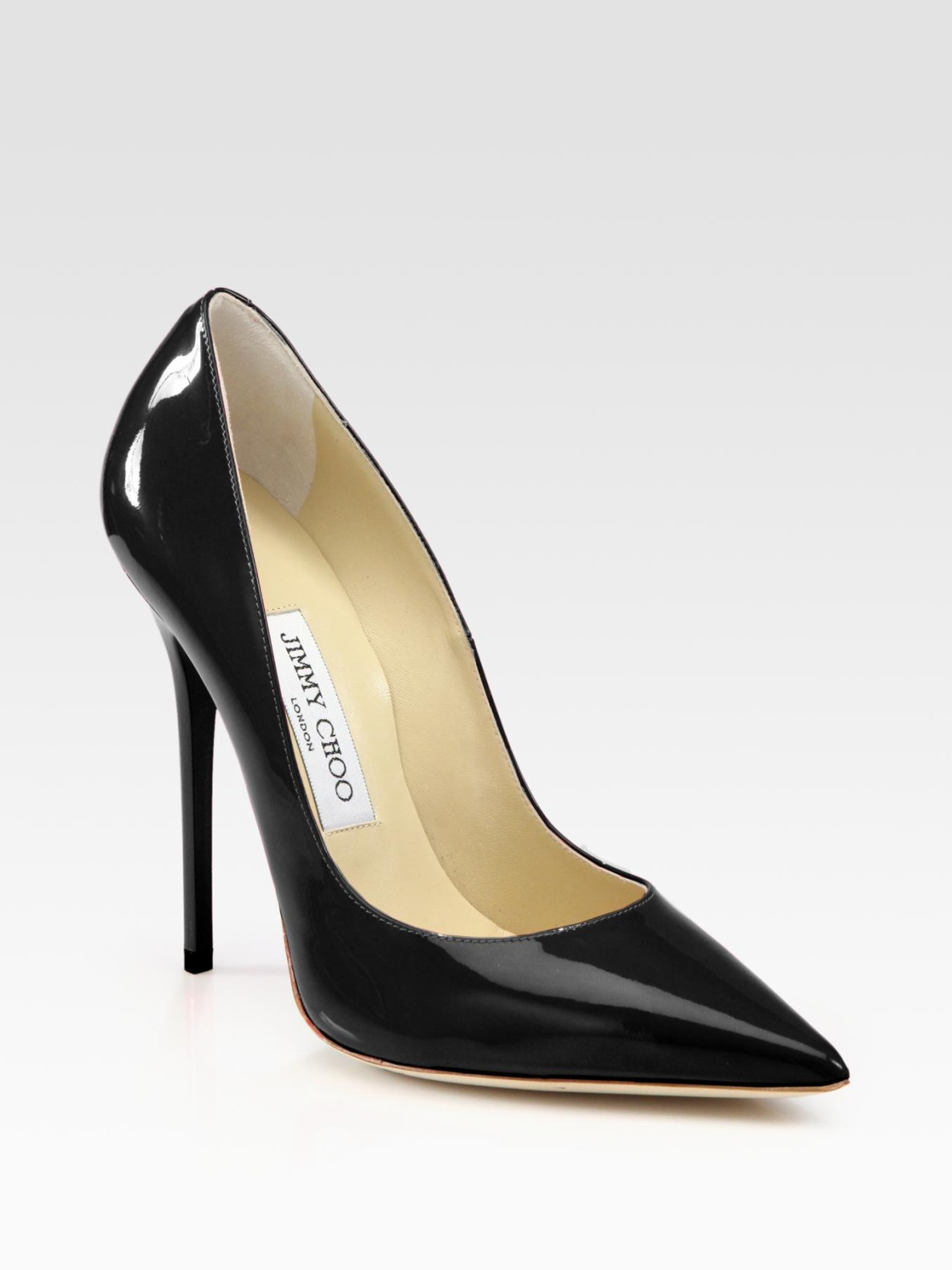 Jimmy choo Anouk Patent Leather Pump in Black   Lyst