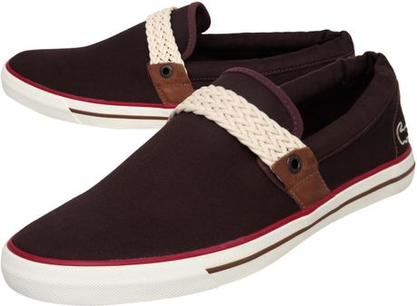 lacoste carel ap casual shoes in purple for men burgundy