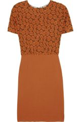 Michael Van Der Ham Brocade and Crepe Dress - Lyst