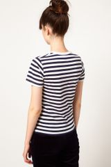 Peter Jensen Striped Pear Tee in Blue (navywhite) - Lyst