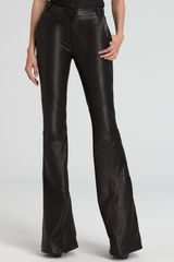 Rachel Zoe Leather Pants Hutton Flare - Lyst