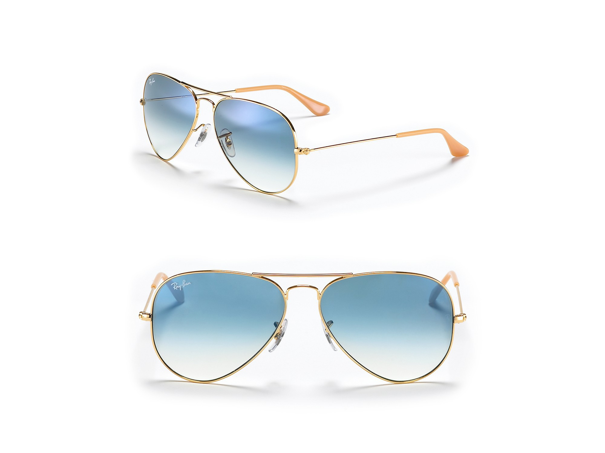 ray ban colored aviators  Ray-ban Classic Aviator Sunglasses in Blue for Men