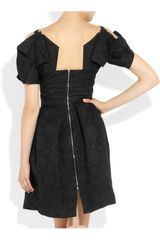 Roland Mouret Diana Brocade Dress in Black - Lyst