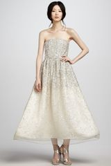 Alice + Olivia Milly Strapless Sequined Ball Gown - Lyst