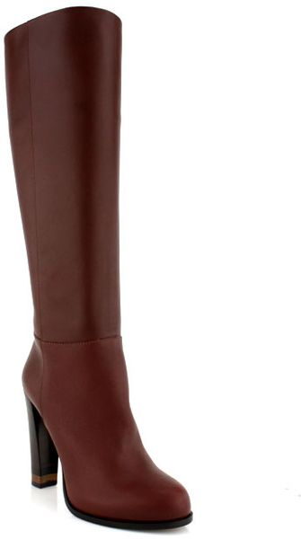 Fendi Walnut Knee High Boot - Lyst