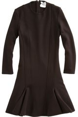 Givenchy Knit Flare Dress in Brown - Lyst