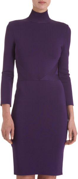 Givenchy Knit Sheath Dress in Purple (violet) - Lyst