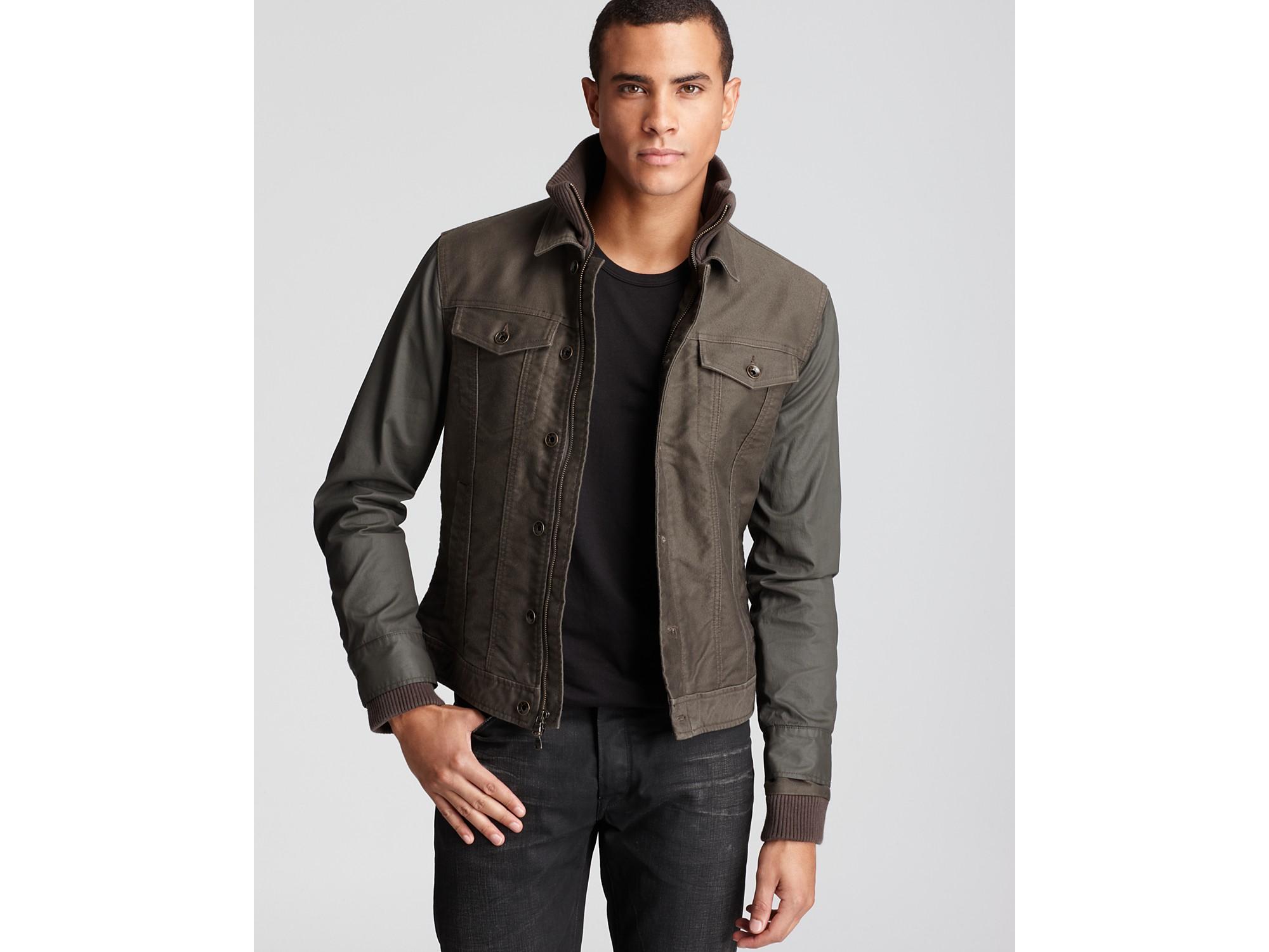 John varvatos Star Usa Double Layer Denim Jacket in Green for Men ...