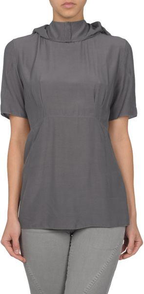Marni Blouse in Gray (grey) - Lyst