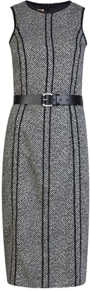Michael Kors Sheath Tweed Dress in Black