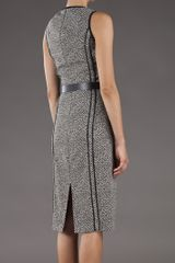 Michael Kors Sheath Tweed Dress in Black - Lyst