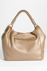 Michael Kors Tonne Large Leather Hobo in Beige (desert) - Lyst
