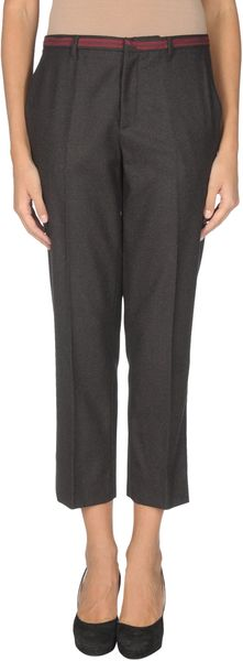 Miu Miu 3/4 length Trousers in Brown - Lyst