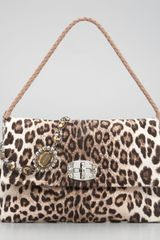Miu Miu Leopardprint Calf Hair Shoulder Bag - Lyst