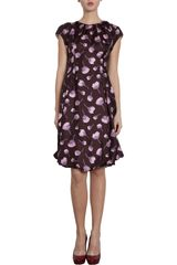 Nina Ricci Floral Cap Sleeve Dress - Lyst