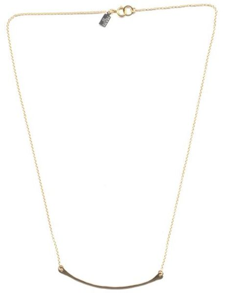 Peggy Li Single Bar Necklace Gf in Gold - Lyst