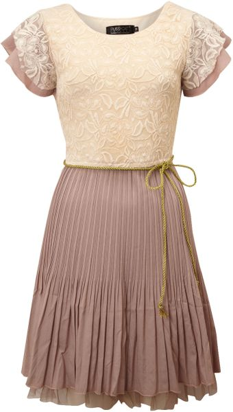 Pussycat Lace Pleat Dress - Lyst