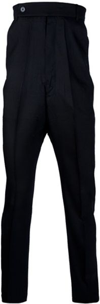 Rick Owens Dropped Crotch Trouser in Black for Men - Lyst