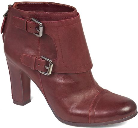 Sam Edelman Monk Strap Booties Sylas in Brown (british burgundy) - Lyst