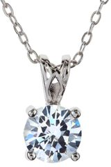 Cz By Kenneth Jay Lane Cubic Zirconia Drop Necklace - Lyst