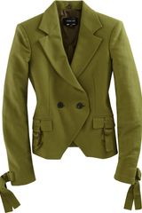 Derek Lam Fitted Doublebreasted Blazer in Green - Lyst