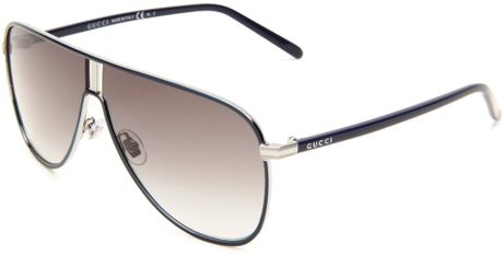 Gucci Gucci Womens Gucci S Aviator Sunglasses in Blue (blue frame/grey gradient lens) - Lyst