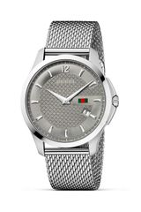 Gucci G Timeless Stainless Steel Mesh Bracelet Watch with Anthracite Diamante Dial 38mm - Lyst