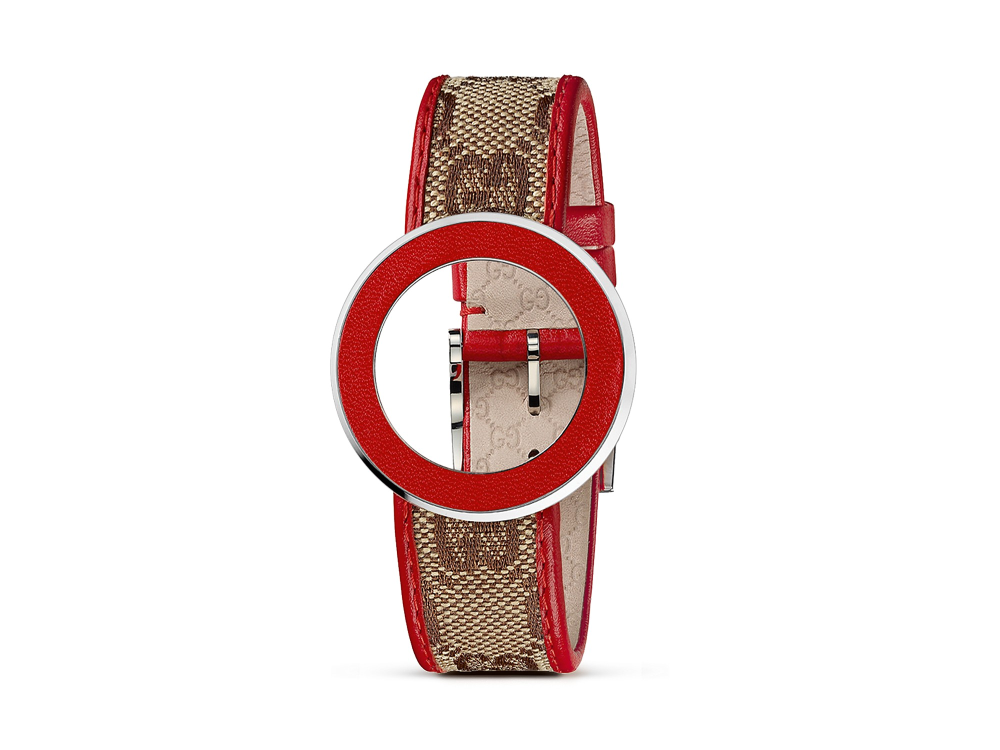 fba5abad5ab Lyst - Gucci U Play Kits Red Leather Bezel and Red Leather Watch ...