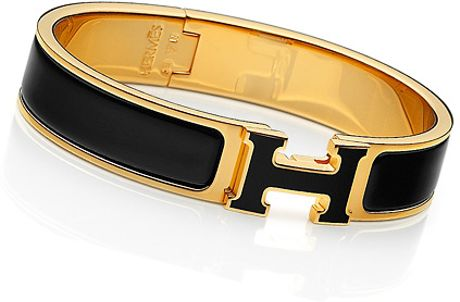 Hermes Clic H in Black - Lyst