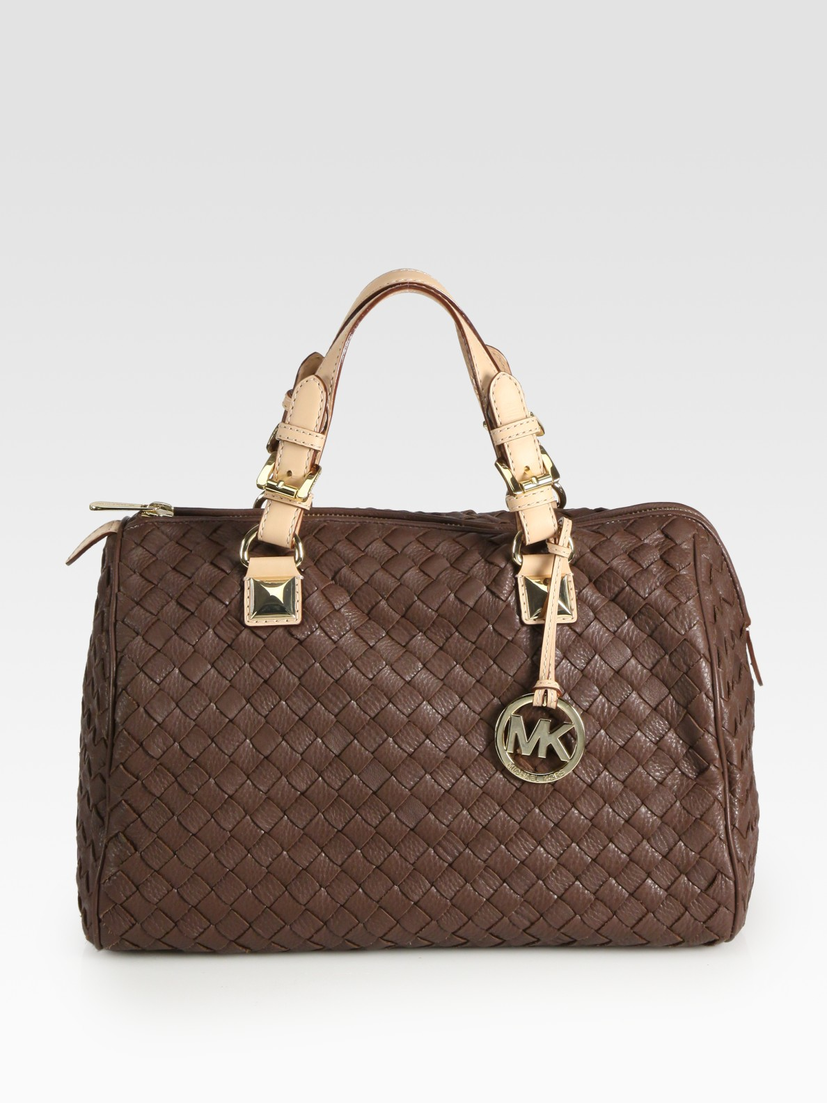 Michael Michael Kors Grayson Woven Leather Satchellarge In