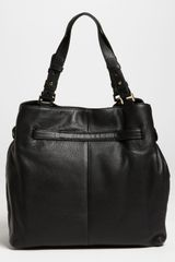 Tory Burch Amanda Tote in Black - Lyst