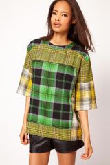 ASOS Collection Asos Tshirt with Mixed Checks - Lyst
