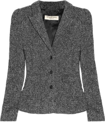 Burberry Tweed Jacket - Lyst