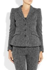 Burberry Tweed Jacket in Gray - Lyst