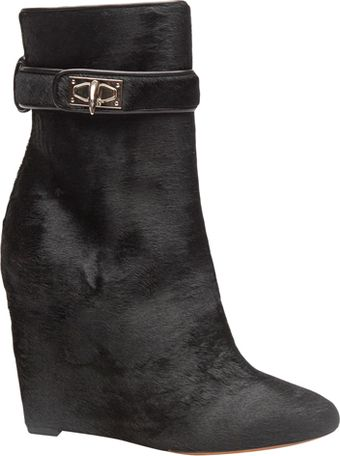Givenchy Sharlock Calf Hair Wedge Boot - Lyst