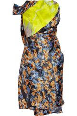 Michael Van Der Ham Printed Silkblend Dress - Lyst