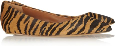 Mulberry Tigerprint Calf Hair Ballet Flats in Animal (tiger) - Lyst