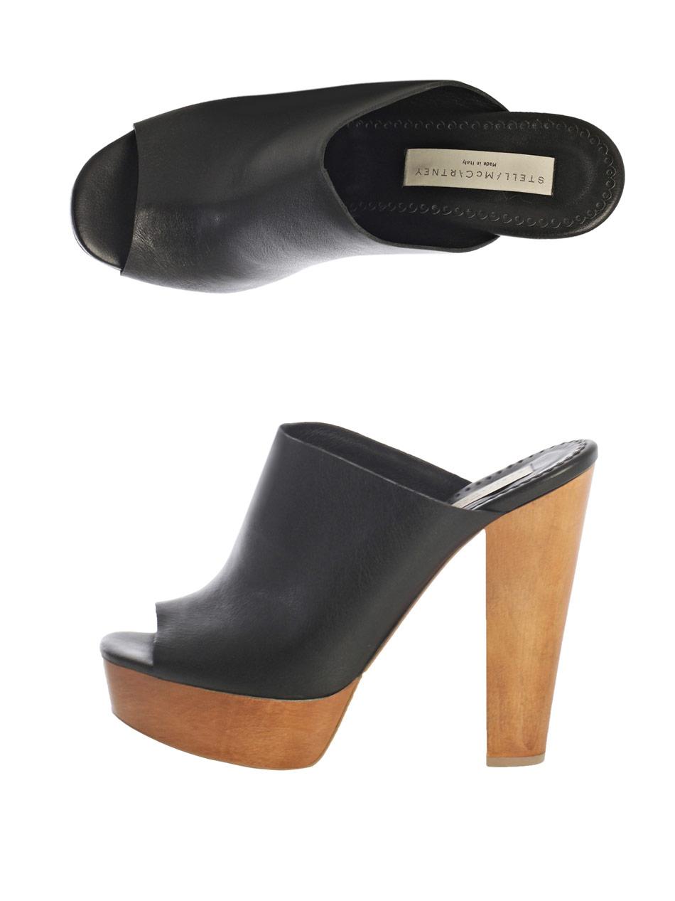 Stella Mccartney Harris Mule Shoes In Black | Lyst