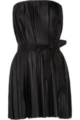 By Malene Birger Pleated Satin Top - Lyst