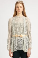 Chloé Lace Top in Beige (natural) - Lyst