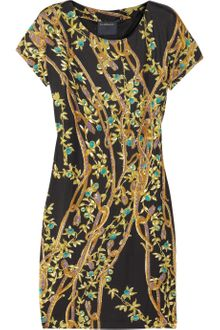Class Roberto Cavalli Printed Satin Jersey Dress - Lyst