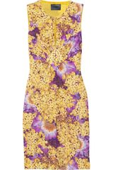 Class Roberto Cavalli Printed Satinjersey Dress - Lyst