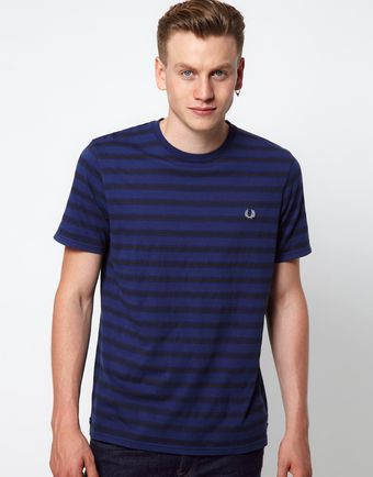 Fred Perry  Printed Stripe T-Shirt - Lyst