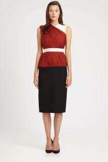 Giambattista Valli Colorblock Drape Dress - Lyst
