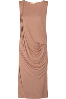 Michael Kors Draped Crepe Dress - Lyst