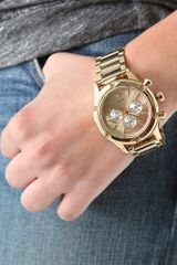 Nixon The Camden Chrono Watch in Gold (champagne) - Lyst