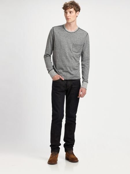 Rag & Bone Pocket Tshirt in Gray for Men (charcoal) - Lyst