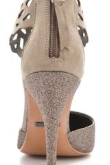 Rebecca Taylor Skylar Glitter Pumps in Gray (multi) - Lyst