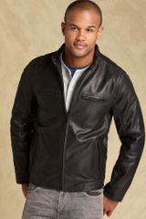 Tommy Hilfiger Buffalo Leather Racer Jacket