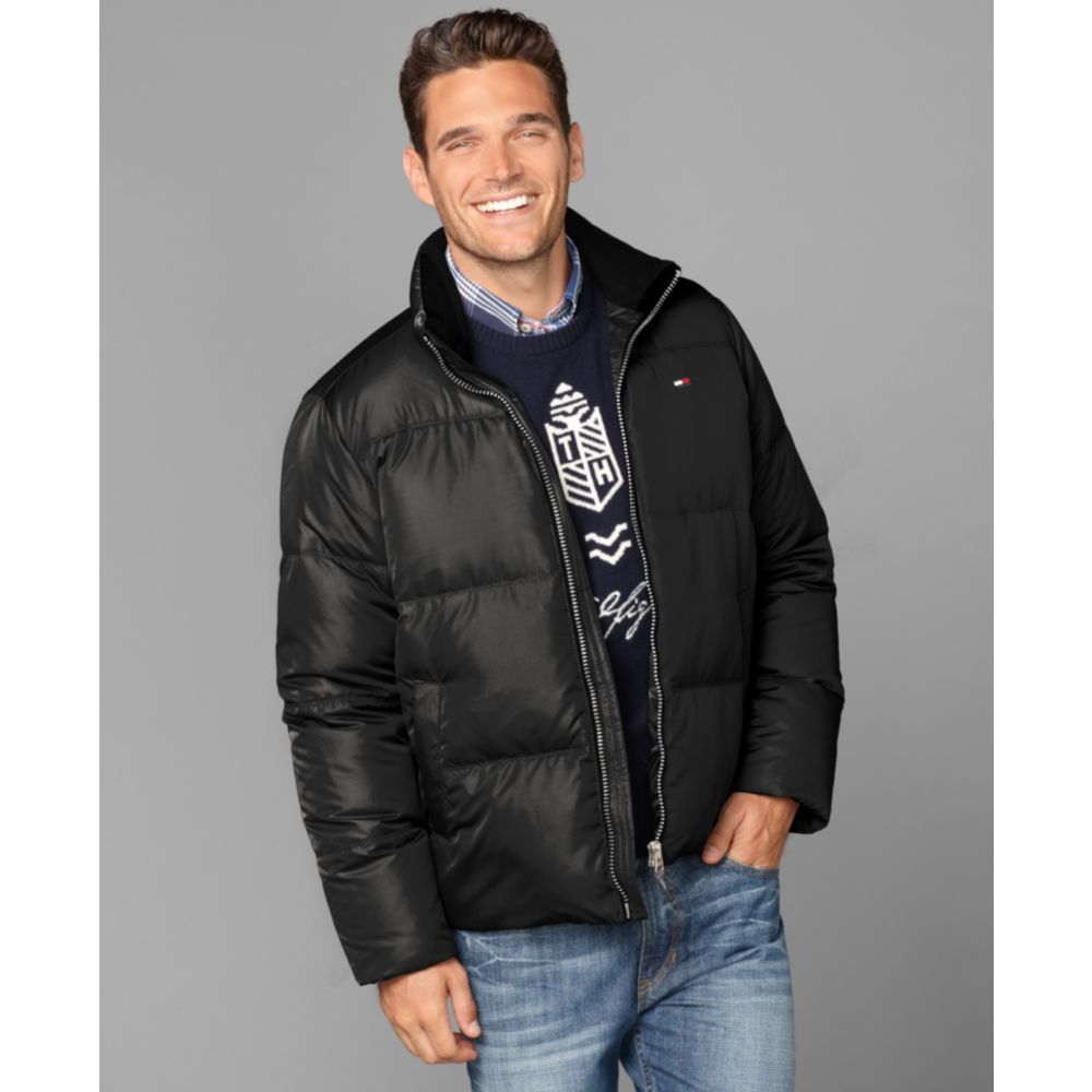 tommy hilfiger killington down puffer jacket in black for. Black Bedroom Furniture Sets. Home Design Ideas